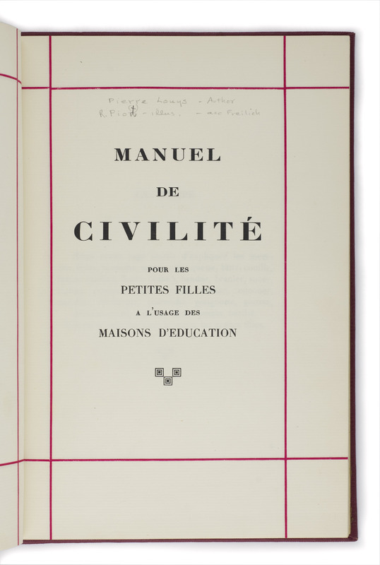 <em>Manuel de civilité</em> by Pierre Louÿs and Martin Van Maele (1930s?)