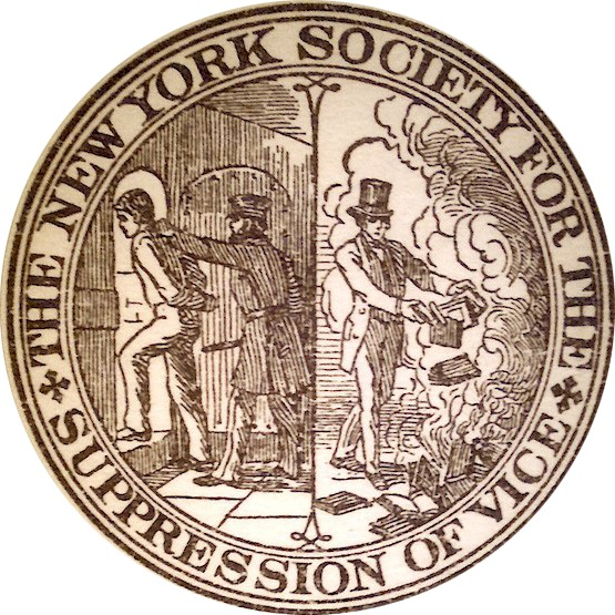 Seal of the New York Society for the Suppression of Vice (1873-1950)
