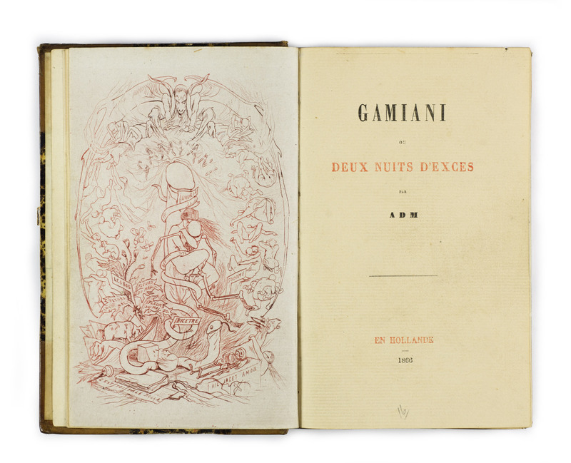 <em>Gamiani</em>, attributed to Alfred de Musset and illustrated by Félicien Rops (1866)