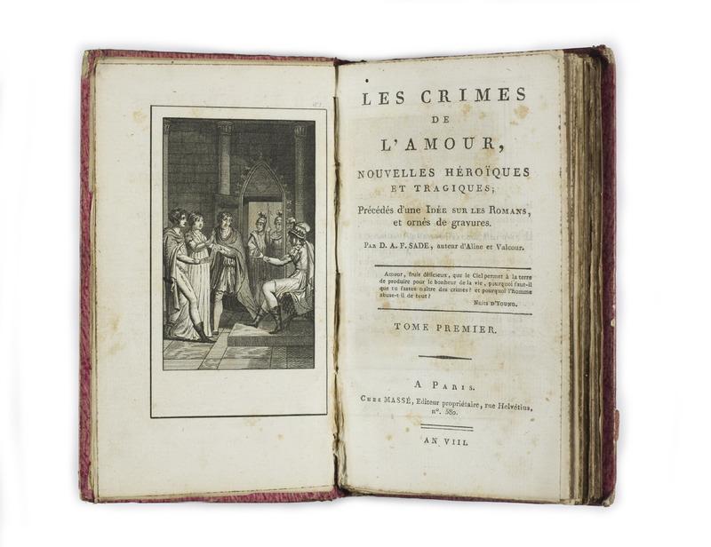 <em>Les Crimes de l'amour / The Crimes of Love</em> by Sade (1800)