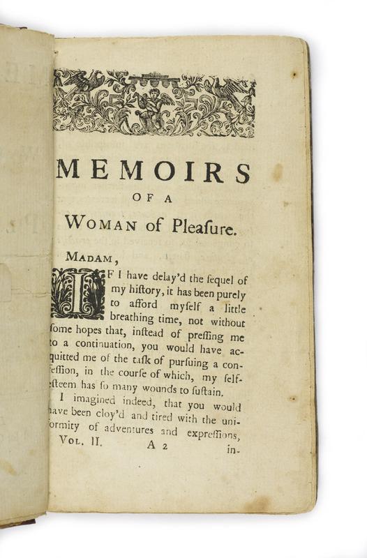<em>Fanny Hill / Memoirs of a Woman of Pleasure</em> by John Cleland (1748-49)